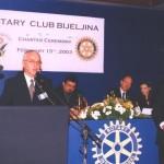 Pozdravni govor gosp. Huskića iz RC Zagreb
